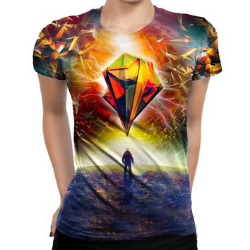 Astronauts Prism Womens T-Shirt