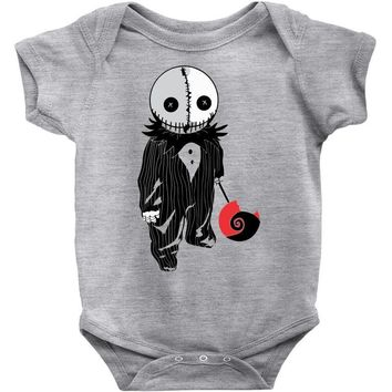 creepy doll trick or treat Baby Onesuit