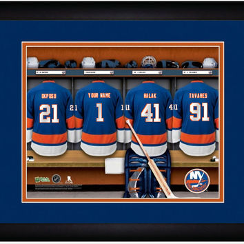 Hockey-NHL New York Islanders Locker Room Print personalized gift it!