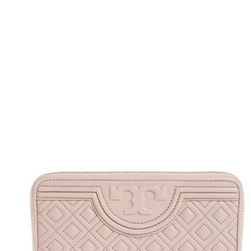 Tory Burch 'Fleming' Quilted Lambskin Leather Continental Wallet | Nordstrom