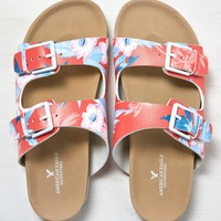 AEO Double Strap Sandal, Tropical Coral | American Eagle Outfitters