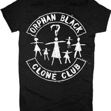 Orphan Black Clone Club TV Show Licensed Women's Junior Black T-Shirt - XL