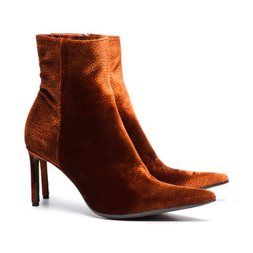 Haider Ackermann Brown 70 Velvet Ankle Boots - Farfetch