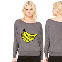Bananas Bunch women's long sleeve tee
