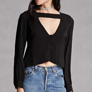 Strappy V-Neck Top