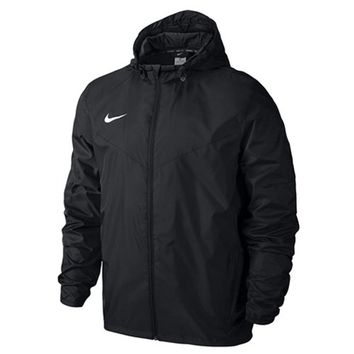 Nike Men's Team Sideline Rain Soccer Jacket (Black)