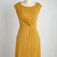 Pinot and Oil Paints Dress in Saffron | Mod Retro Vintage Dresses | ModCloth.com