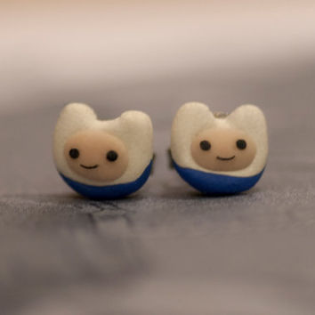 Adventure Time Finn The Human Earrings