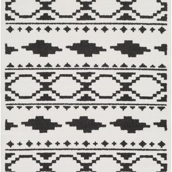 Surya Moroccan Shag Global Black MCS-2305 Area Rug