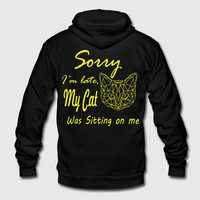 MY CAT WAS SITTING ON ME T-SHIRT by IM DESIGN CREATIVE | Spreadshirt