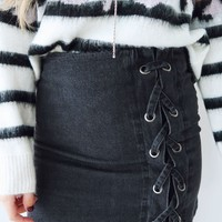 Do You, For You Skirt: Black