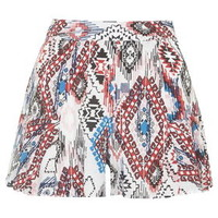 **Azted Print Shorts by Glamorous - Blue