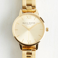 Luxe Teacup and Running Watch in Gold - Midi by Olivia Burton from ModCloth
