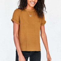 Silence + Noise Modern Woven Tee - Urban Outfitters