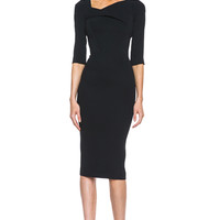 Sirius Viscose-Blend Dress in Black