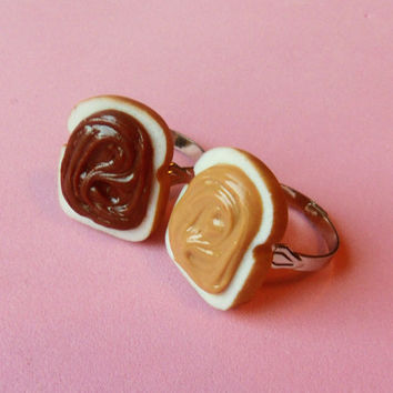 peanut butter and nutella best friend rings by ScrumptiousDoodle
