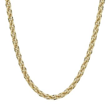 Everlasting Gold 14k Gold Rope Chain Necklace - 24 in. (Yellow)