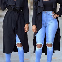 Long Sleeve Lightweight Trench Coat
