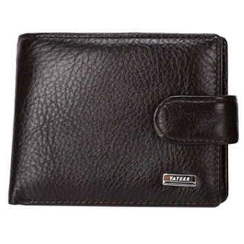 Mens Button Genuine Leather Wallet