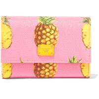 Dolce & Gabbana - Printed textured-leather wallet