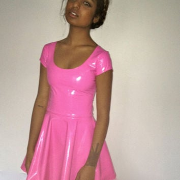 Bubblegum Pink Skater Dress