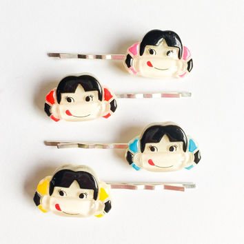 kawaii japanese doll bobby pins-girls hair pins-dolly girly hair accessory-kids hair pins-children hair accessories-Love Factory New York