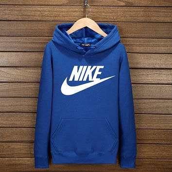"""NIKE"" Hooded Top Sweater Pullover Sweatshirt Hoodie Blue I-YSSA-Z"