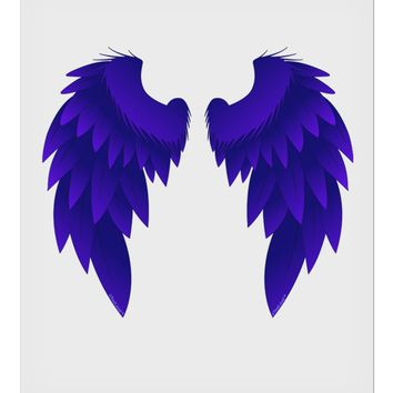 """Epic Dark Angel Wings Design 9 x 10.5"""" Rectangular Static Wall Cling by TooLoud"""