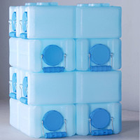 8 Stackable Water Storage Containers - 28 Gallons