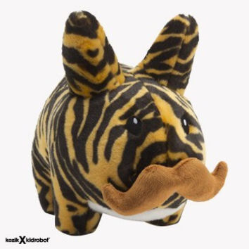 "Tiger Stache Labbit 7"" Stuffed Animal Plush"