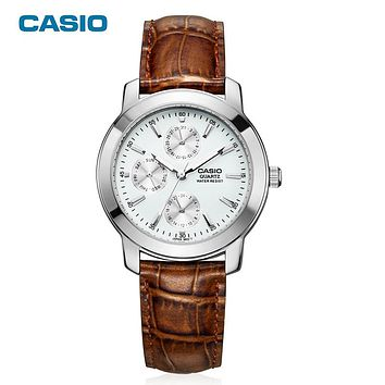 CASIO WATCH men's fashion Business life Waterproof leather quartz man's watch Relogio Masculino Original Genuine gift MTP-1192