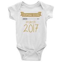 Coming Soon Baby Announcement Onesuit
