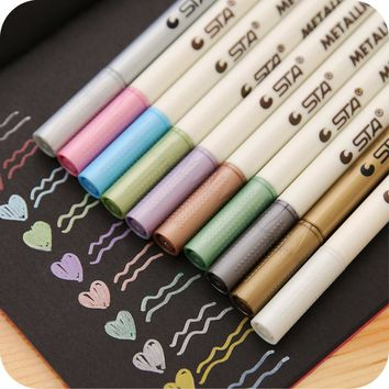 10PCS/Lot Sharpie Pen Markers Touch Metal Color Marker Graffiti Multicolor Paint Marker Pen Sharpie Copic Markers Art copic