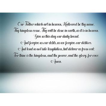 The Lord's Prayer Wall Sign Decal