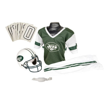 New York Jets Youth NFL Deluxe Helmet and Uniform Set (Small)