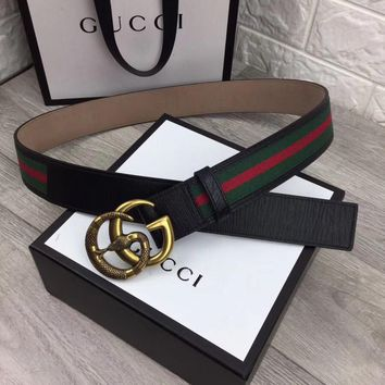 GUCCI width 3.8cm, leather needle buckle belt complete package