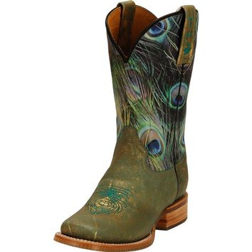 Women's Tin Haul Peacock and Masquerade 11in Top Cowgirl Boot
