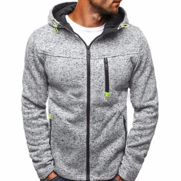 Mens Sweater All Sizes NEW Men's Mock lightweight workwear heathered hooded