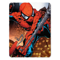 Marvel's Spiderman Web Swing Fleece Throw (45in x60in)