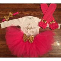 Pink & Gold Birthday Outfit