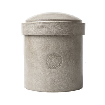 Leather Jewelry Canister