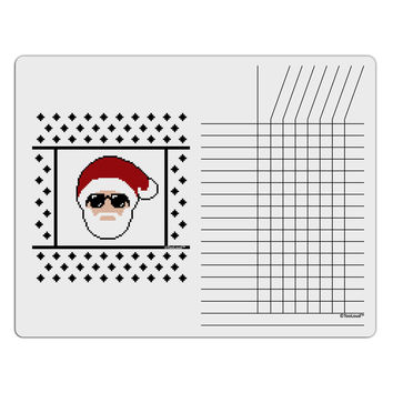 Cool Santa Christmas Sweater Chore List Grid Dry Erase Board