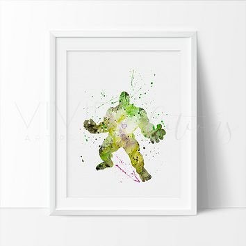 The Incredible Hulk 2 Watercolor Art Print