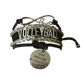 Volleyball She Believed She Could So She Did Infinity Bracelet