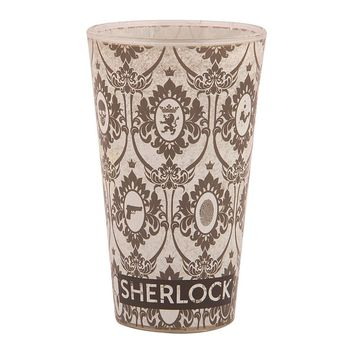 SHERLOCK WALLPAPER DESIGN PINT GLASS