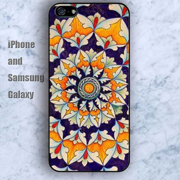 Mandara life flowers colorful iPhone 5/5S case Ipod Silicone plastic Phone cover Waterproof