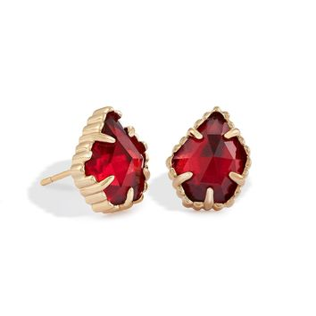 Kendra Scott - Limited Winter Seasonal - Tessa Berry Glass Gold Stud Earrings