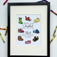 Smallest Things Pooh Print