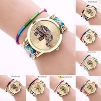 Threaded Elephant Drawstring Friendship Watch