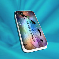 Peter Pan Never Grow Up Fly Fairy For iPhone 4/4s,5/5s/5c, Samsung S3,S4,S2, iPod 4,5, Htc one